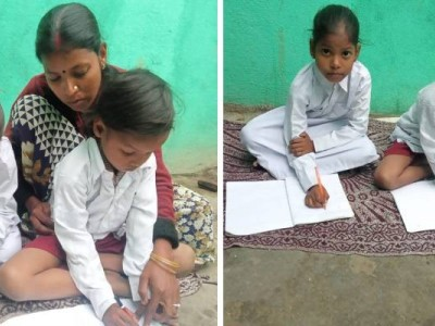 Please support our two little daughters in getting a good education.